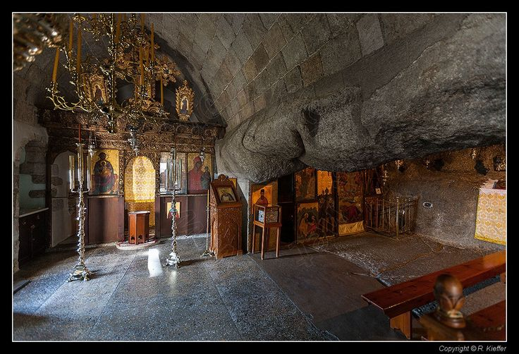 Cave of the Apocalypse - Where John of Patmos is said to have written The Book of Revelations.http://www.tripadvisor.com/ShowUserReviews-g189447-d207187-r171854243-Monastery_of_St_John-Patmos_Dodecanese_South_Aegean.html