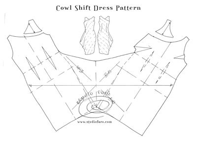 Pattern Puzzle - Twist or Cowl Shift Dress