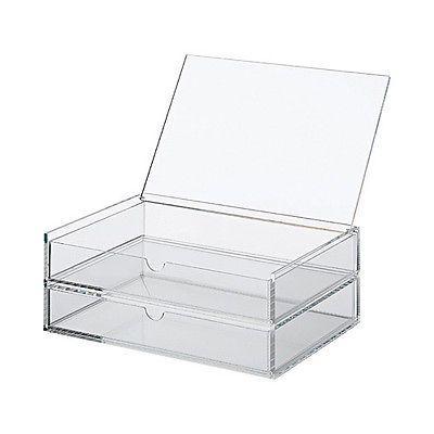 MUJI Klappdeckel-Acrylbox mit zwei Schubladen L in Beauty & Gesundheit, Maniküre & Pediküre, Acryl-Pulver & -Liquids | eBay