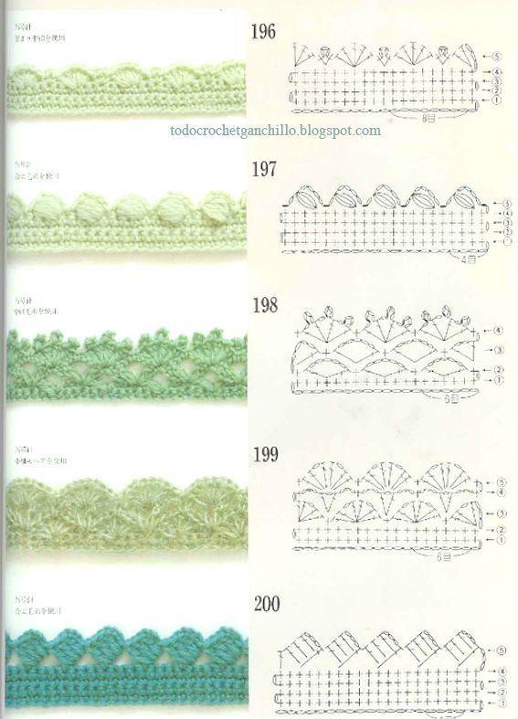 Free Crochet Pattern / 50 patrones ganchillo de puntillas para descargar