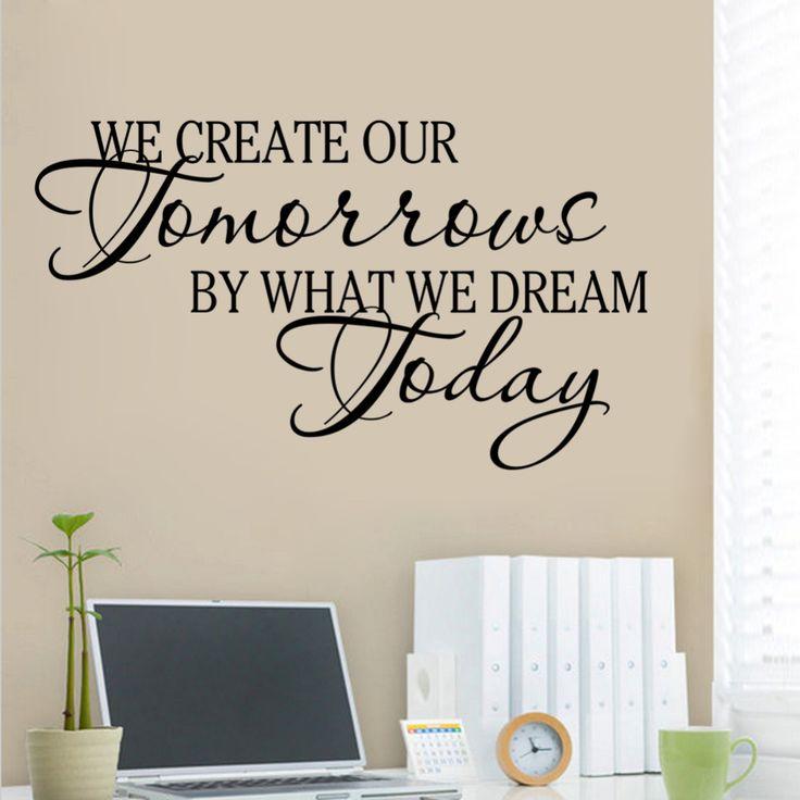 Мы Творческий наше завтра, мы мечтаем сегодня Вдохновляющие цитаты Винил Стены Наклейки для детей номеров Наклейки На Стены Фотографии