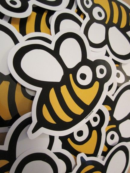 Bee die cut vinyl sticker by on etsy by gigart