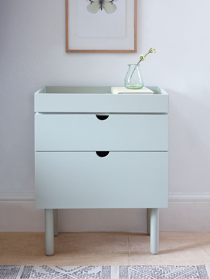 NEW Occasional Table with Drawers - Eau De Nil