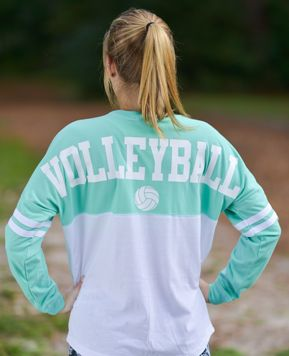 two_tone_volleyball_spirit_jersey This please! On the front, no ball or number. Just the shirt!