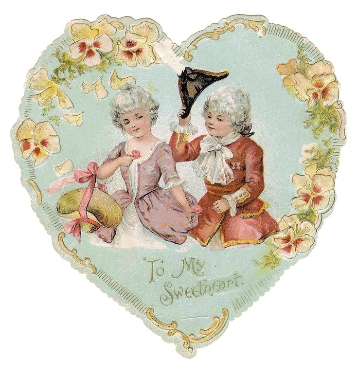 Blue Heart from Antique Images