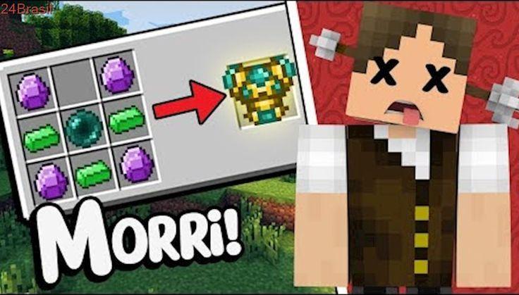 Minecraft Épico #74: EU MORRI TENTANDO FAZER ESSA ARMADURA!!!