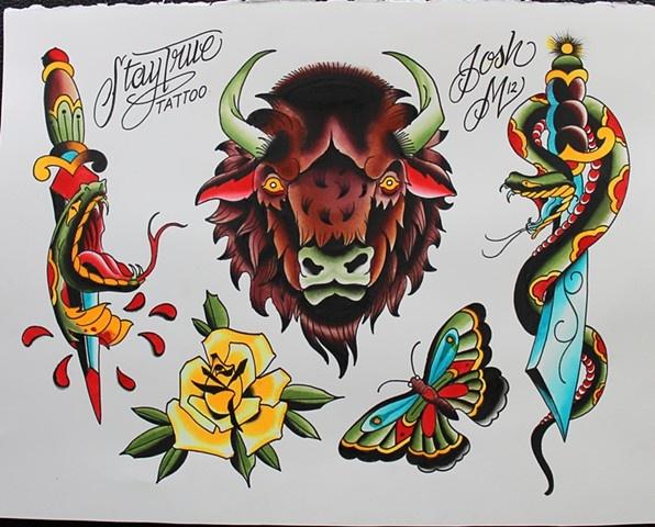 stay true tattoo flash kysa ink design tattoo tattoo pinterest. Black Bedroom Furniture Sets. Home Design Ideas