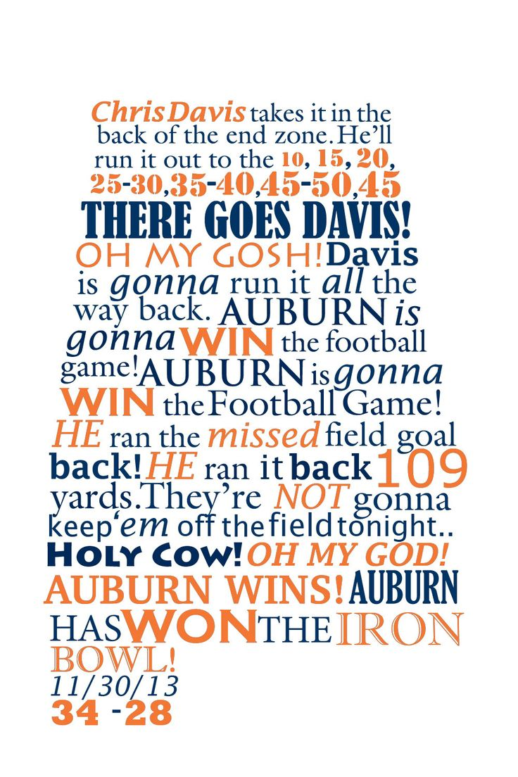 Auburn Wins the Iron Bowl Radio Call by GusandCleo on Etsy, $19.00
