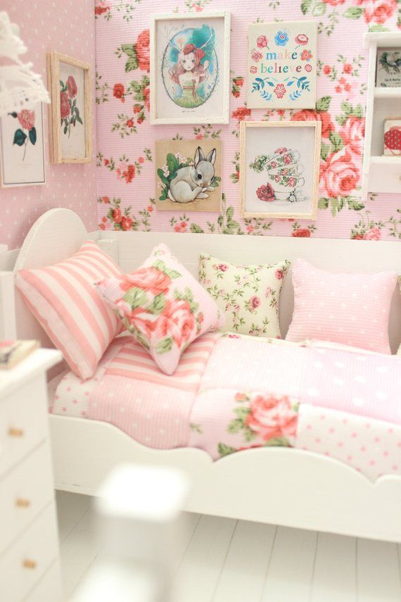Chambre A Coucher Poupee Diorama Roses Roses Blythe Pullip
