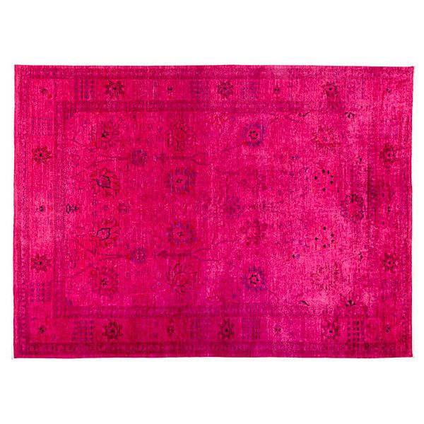 """10'3""""x13'8"""" Nassau Oriental Rug Pink Area Rugs (10 205 AUD) ❤ liked on Polyvore featuring home, rugs, pink, oriental rugs, pink area rug, oriental rug pads, asian rugs and pink rug"""