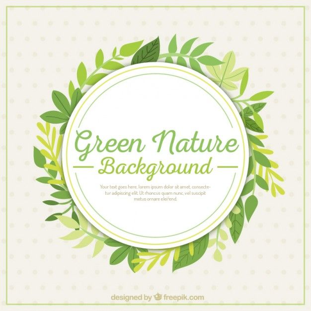 Green nature background with leaves Free Vector