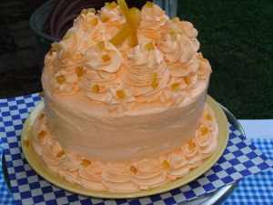Orange Dream Cake  This cake recipe is the property of The Blue Rooster Eatery in Lilburn, GA. I love this cake because it takes just like a Dreamsicle! For real!