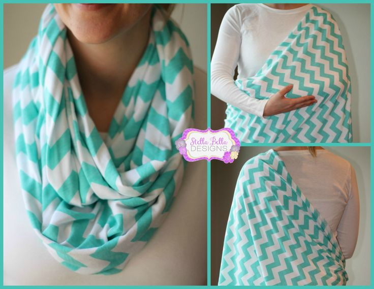 SALE Hold Me Close Nursing Scarf  Aqua by StellaBellasDesigns, $20.00