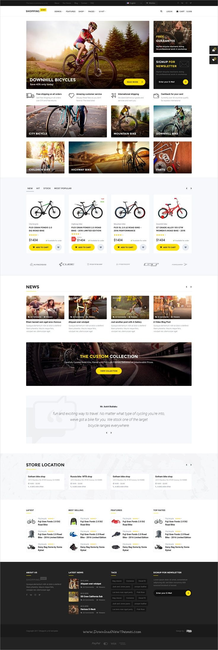 Shopping is wonderful #PSD template for multipurpose #bike shop #eCommerce website with 6 homepage layouts and 78 organized PSD pages download now➩  https://themeforest.net/item/shopping-multipurpose-responsive-ecommerce-psd-template/19411054?ref=Datasata