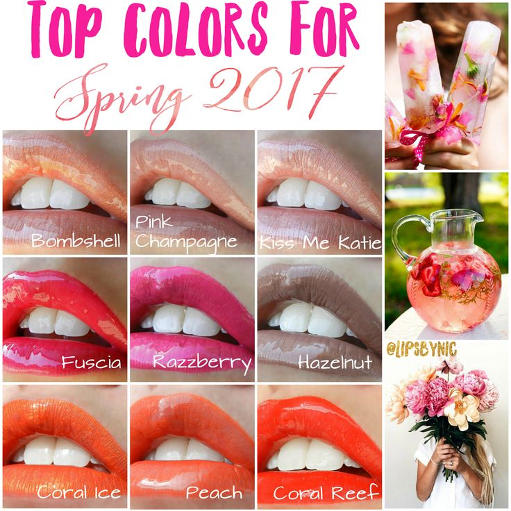Pantone released their top colors for Spring/Summer 2017 and here are the hottest coordinating LipSense shades! Nudes, Light Pinks, Bright Pinks, and Corals are going to be the biggest hits. To see more pictures of these colors click on the photo to visit my interactive Facebook group :)