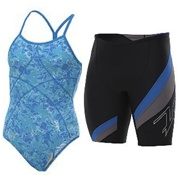 Zoot Swimsuits (Men & Women) - Zoot swimsuits are flattering, stylish and functional! Best of all, they feature a high-performance Spandex yarn that is chlorine-resistant up to 280 hours, offersUPF 50+ sun protection and supports your muscles! Available in a modest one-piece for women and jammers for men.