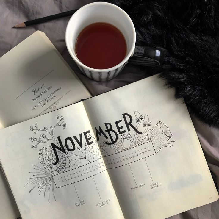 November Calendar Bullet Journal by #cardigansandchamomile