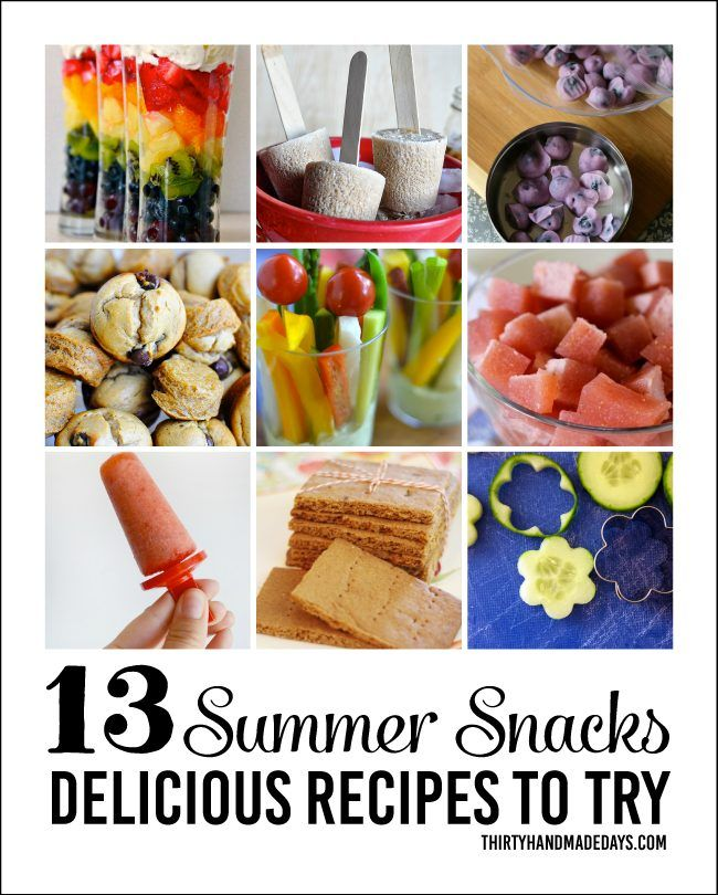 Kids love summer snacks! Check out our list of summer snack ideas to try with them this year. Summer snacks don't always have to be unhealthy either.