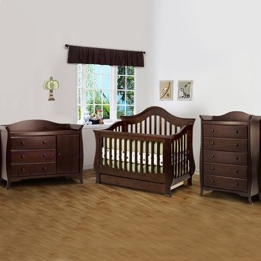 1356 Million Dollar Baby 3 Piece Nursery Set Ashbury 4 In 1 Sleigh