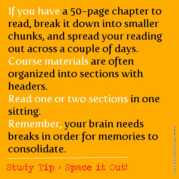 Study Tip > Space it Out!