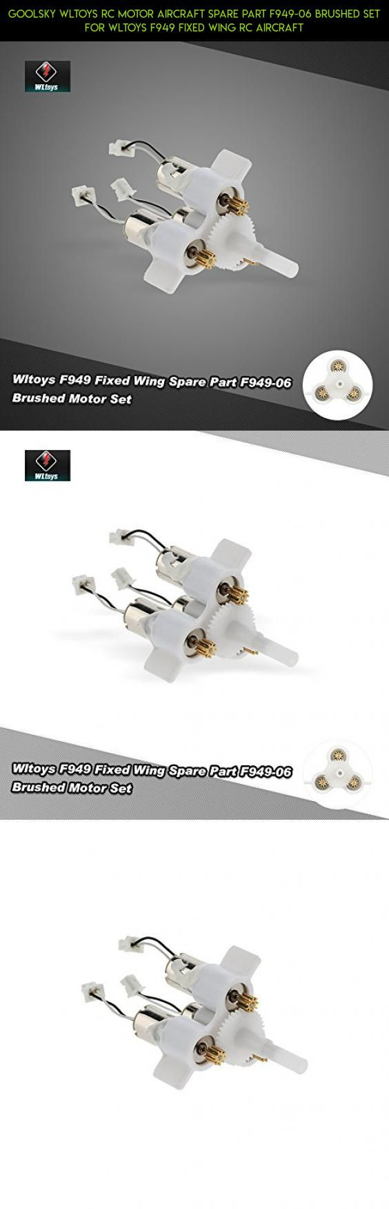 Goolsky Wltoys RC Motor Aircraft Spare Part F949-06 Brushed Set for Wltoys F949 Fixed Wing RC Aircraft #kit #parts #technology #shopping #racing #camera #fpv #plans #gadgets #f949 #drone #tech #products #wltoys