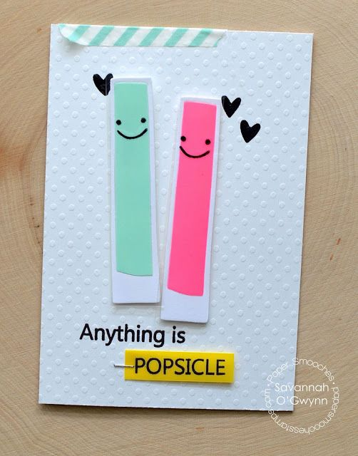 Beautiful Cool Card Making Ideas Part - 4: Anything Is Popsicle By Savannah Ou0027 Gwynn For Paper Smooches - Summer  Sampler, Cool