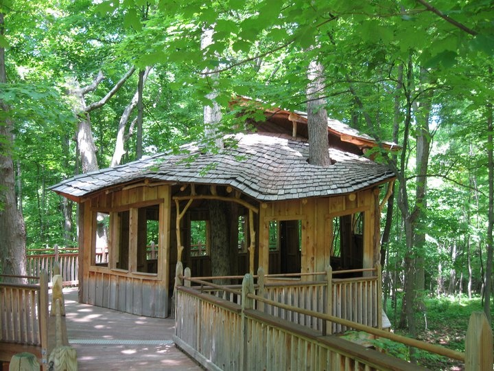 Bill Allen [.treehouses.org] built this treehouse with its asymmetrical cedar & 66 best Treehouses and outdoor building images on Pinterest ... memphite.com