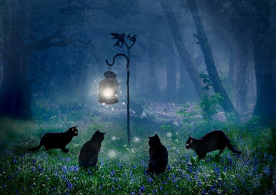 """""""The Witches Cats"""" by Angela Barnett."""