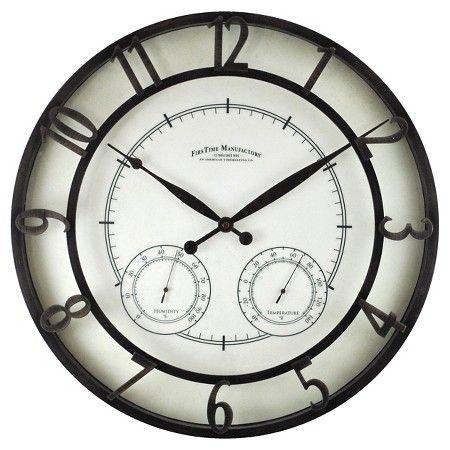 www.target.com p firstime-park-hill-outdoor-wall-clock-black - A-50394672