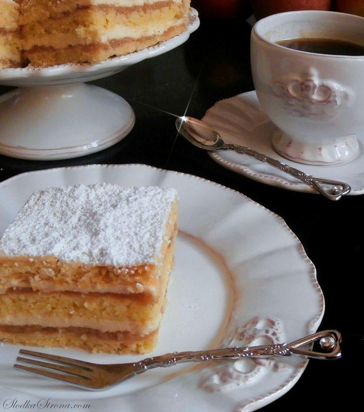 Słodka Strona: Szarlotka z Masą Budyniową