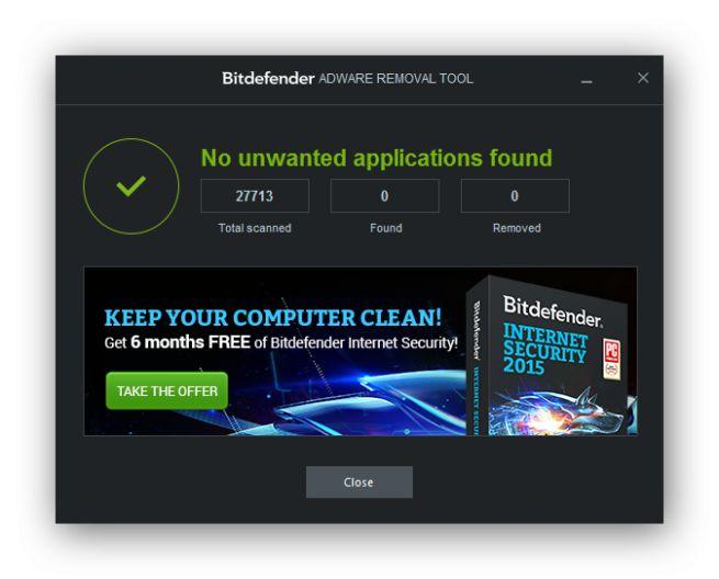 Bitdefender lanza su aplicación Adware Removal Tool para Windows para limpiar también de este software a los usuarios del sistema de Microsoft.
