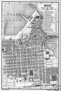 Bari, City Map 1903