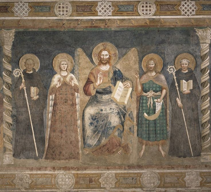 Пьетро да Римини. Росписи трапезной аббатства Помпоза (Феррара), 1316-1320   2