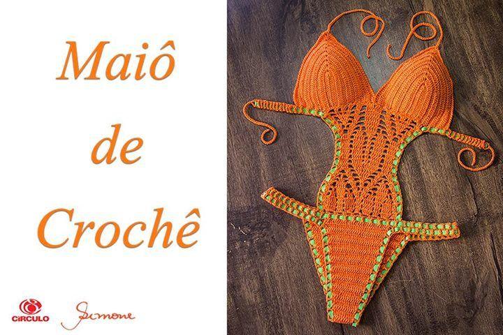 """Olá pessoal tudo bem? Vamos fazer um """"Maiô de Crochê"""" para o nosso verão ? Não se esqueça de curtir o vídeo e compartilhar ;) parte 1 https://youtu.be/jli5KvpiF0I parte 2 https://youtu.be/Bxf3i3Y27E0 parte 3 https://youtu.be/za74ZbOCR7I #crochet #profes"""
