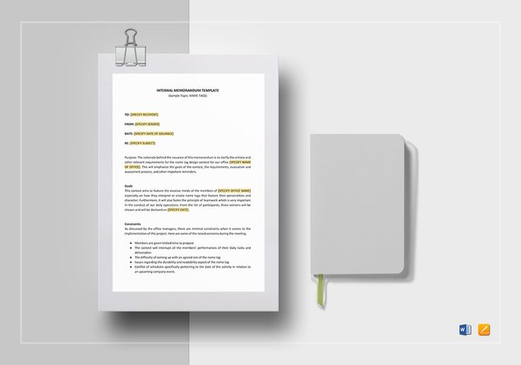 Internal Memo Template  $12  Formats Included : MS Word, Pages File Size : 8.27x11.69 Inchs, 8.5x11 Inchs  #Documents #Documentdesigns #Memodesigns #MemoTemplates #InternalMemoTemplate