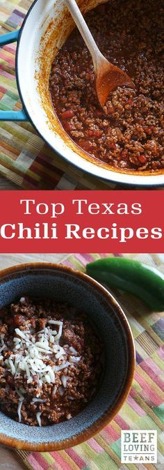 Beans or no beans, we've got a chili recipe for every kind of Texan. These quick and easy meals are perfect for weeknight dinner.