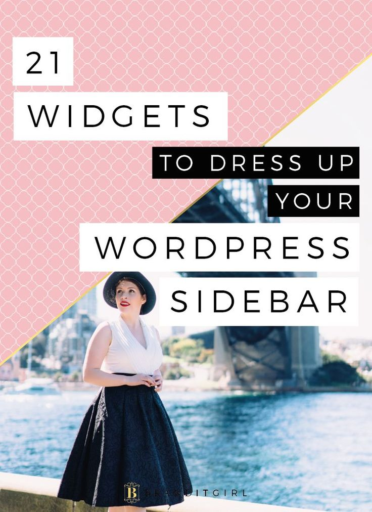 Everyone loves dressing up and your sidebar is no different!! Get fancy with your sidebar and dress it up for success. Click through for 21 great Wordpress widgets for your sidebar! #wordpress #website #sidebar