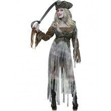 Vrouwelijke Zombie Piraat Outfit Vrouw