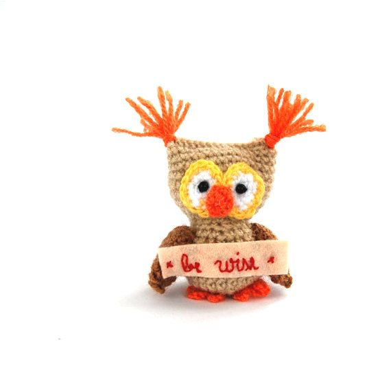 $21.64 BE WISE little owl, crochet owl, amigurumi owl, stuffed owl, plushie owl, gift for #teens, gift from moms, gift for boys, #bewise #handmade by crochAndi