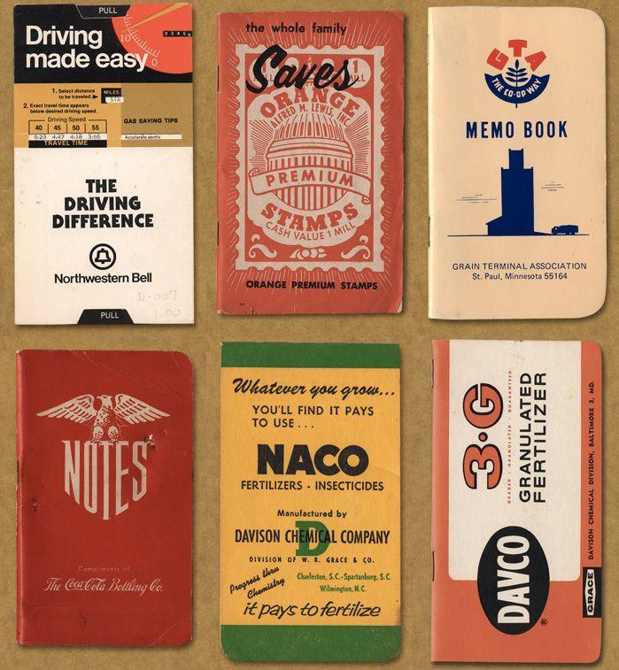 Vintage American Memo Graphics   Field Notes X Aaron Draplin graphics