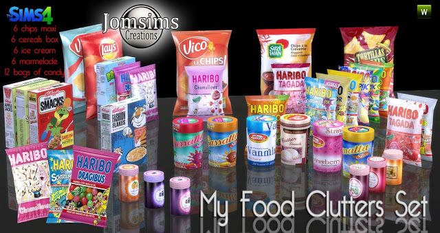 Sims 4 CC's - The Best: Food Clutter by JomSims