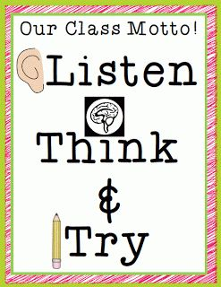 Classroom Freebies: Listen, Think, and Try!