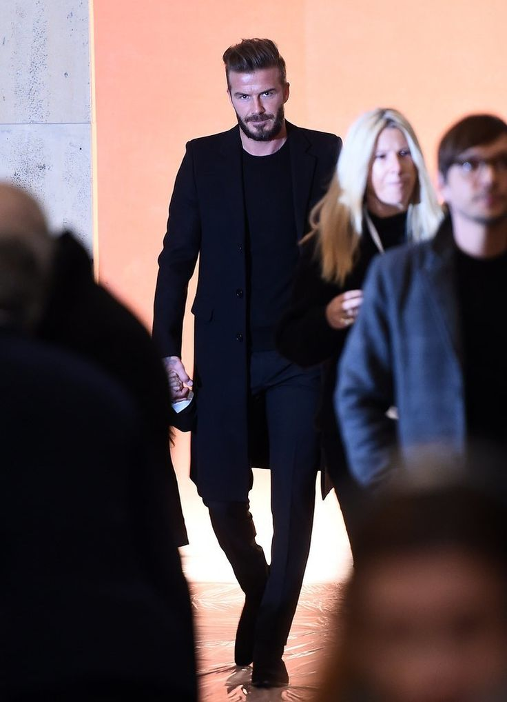 David Beckham and Kids at New York Fashion Week 2015 | POPSUGAR Celebrity