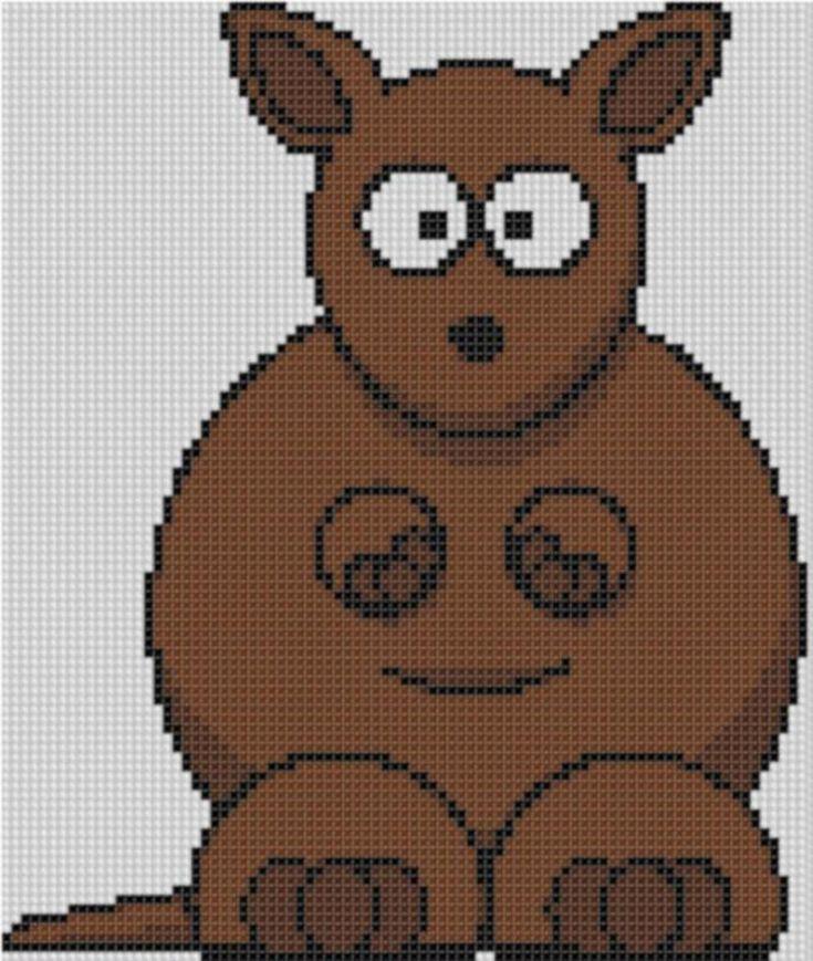 Kangaroo 2 Cross Stitch Pattern  | Craftsy