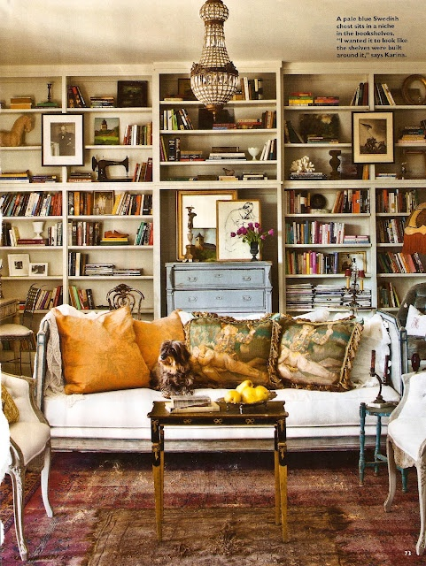 Like The Bookcases, Maybe Shorter Dresser/longer Mirror To Mimic  Passthrough? Library   New Orleans Cottage Revival   Southern Living Part 73