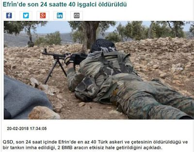 Κούρδοι στη μάχη στο Αφρίν: 40 εισβολείς σκοτώθηκαν τις τελευταίες 24 ώρες