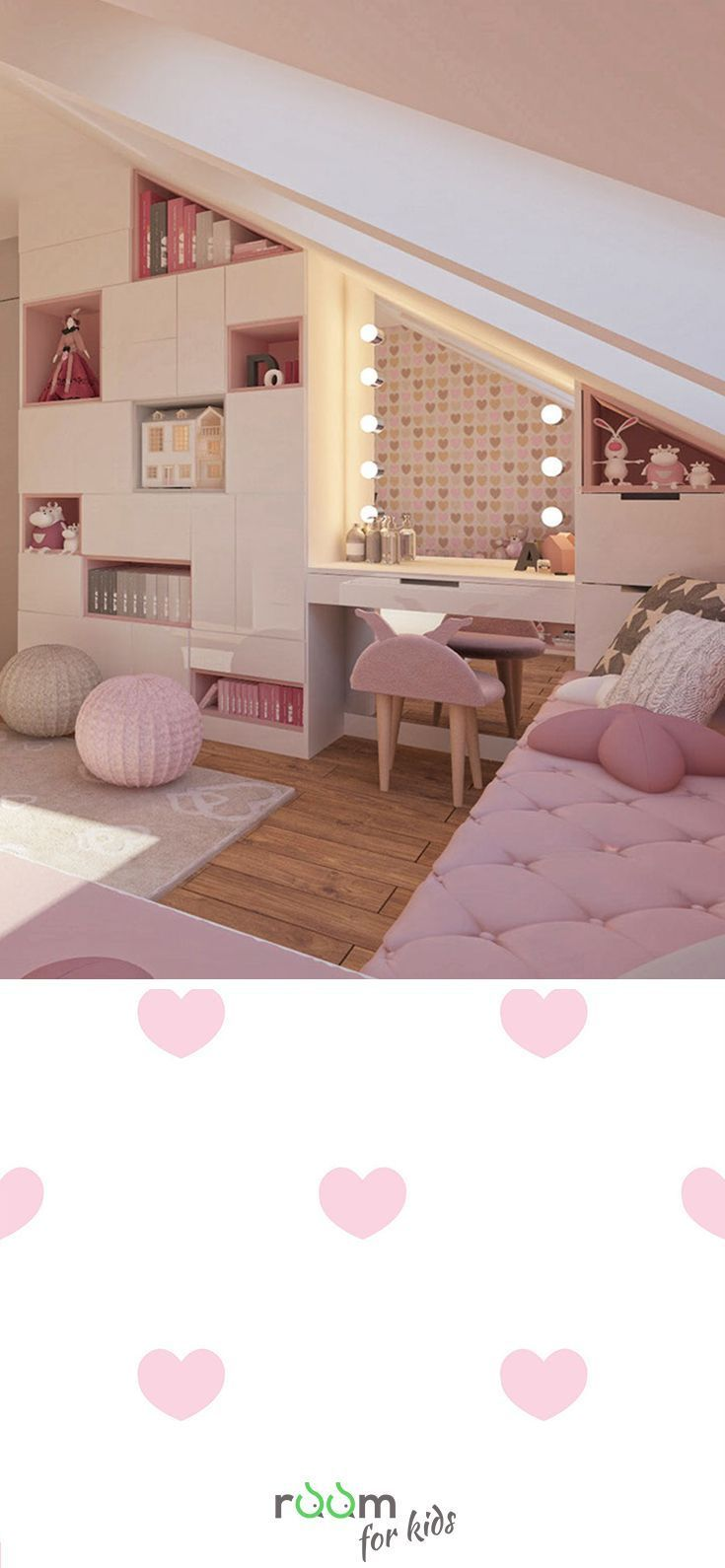 Design idea for a girl's room in pink design