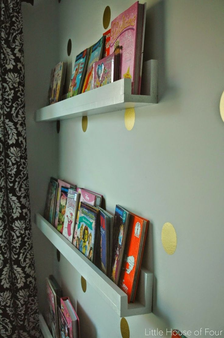{DIY} Wood bookshelves for a fraction of the cost of store bought shelves.