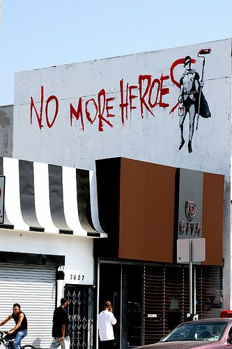 A Banksy painting in Los Angeles, California.