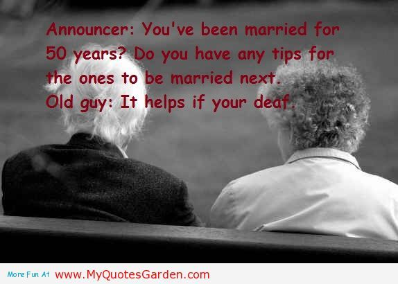 Old people say after spending 50 marriage life - Funny Marriage ...